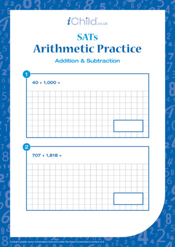 Thumbnail image for the Arithmetic Practice: Addition & Subtraction activity.
