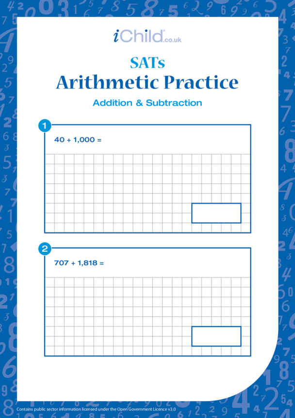 Arithmetic Practice: Addition & Subtraction