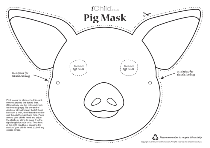 Thumbnail image for the Chinese New Year of the Pig Mask activity.