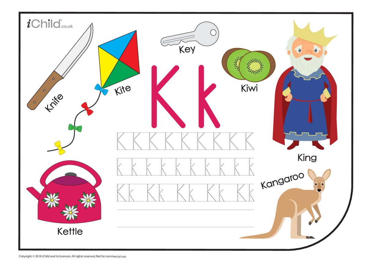 K: Writing the Letter Kk