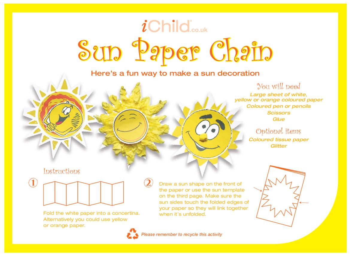 Sun Paper Chain
