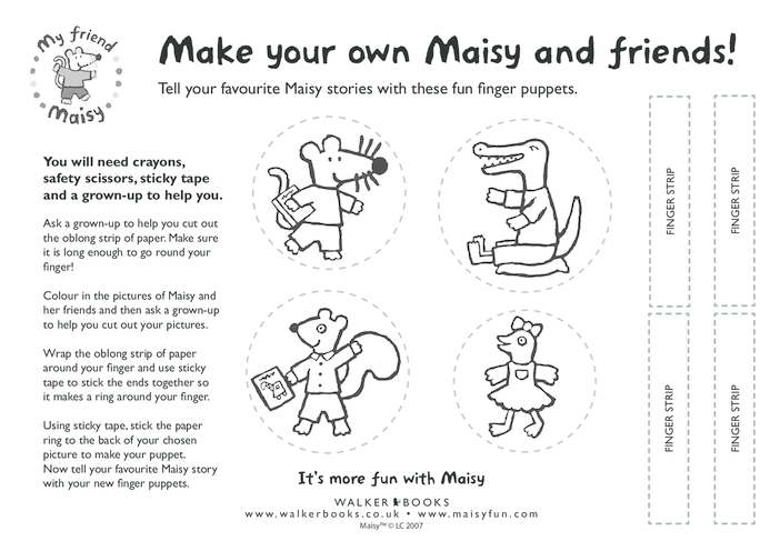 Thumbnail image for the Maisy Finger Puppets activity.