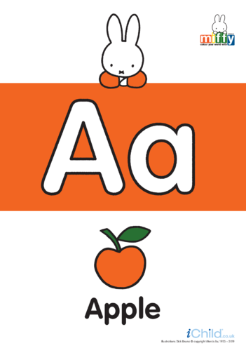 Thumbnail image for the All the Letters of the Alphabet with Miffy activity.