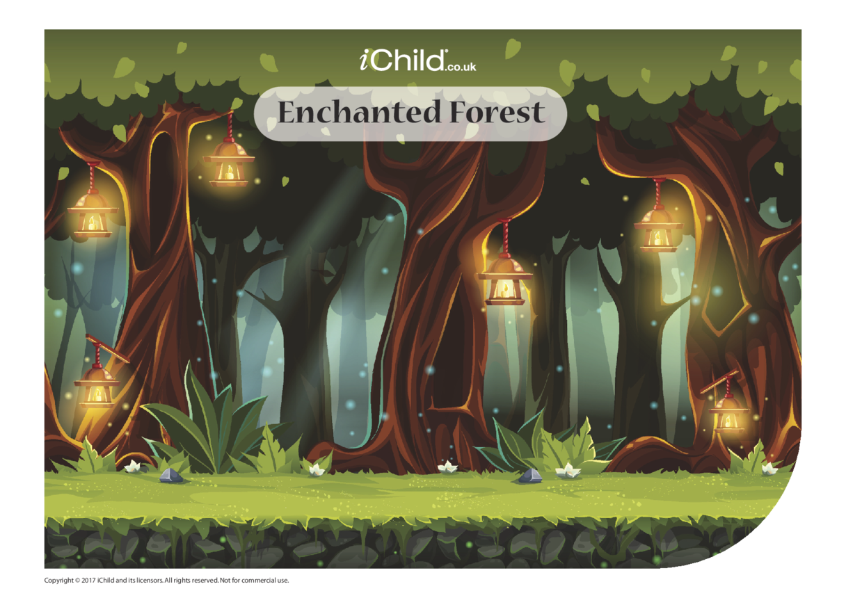 Enchanted Forest Sticker Scene