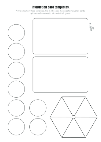 Thumbnail image for the Race Against Time Game Instruction Cards, Counters and Spinner Templates (Blank) activity.