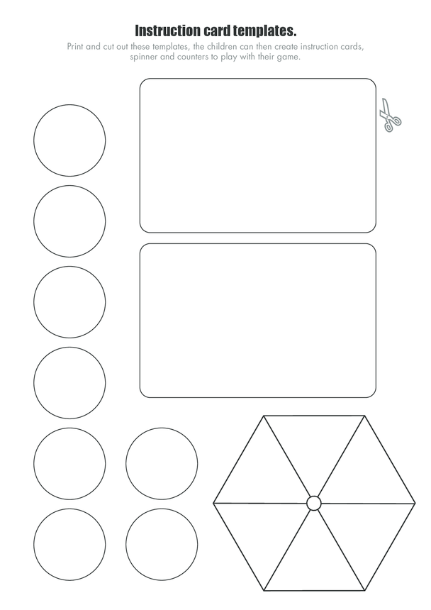 Race Against Time Game Instruction Cards, Counters and Spinner Templates (Blank)