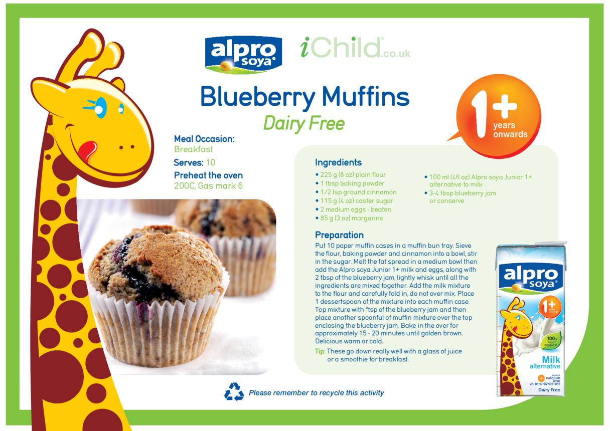 Blueberry Muffins Dairy Free Recipe