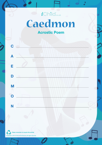 Thumbnail image for the Caedmon Acrostic Poem activity.