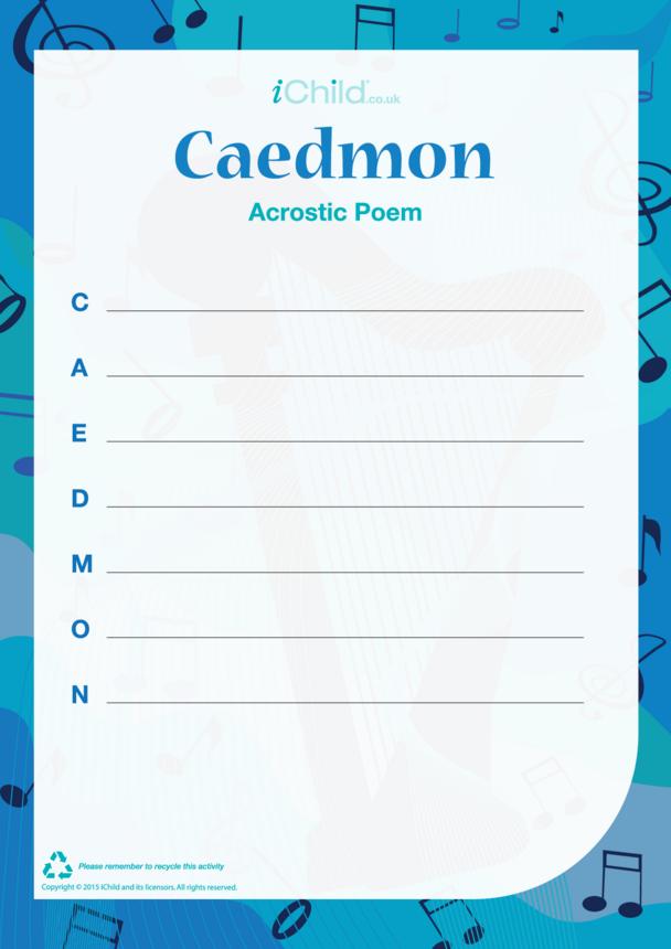Caedmon Acrostic Poem