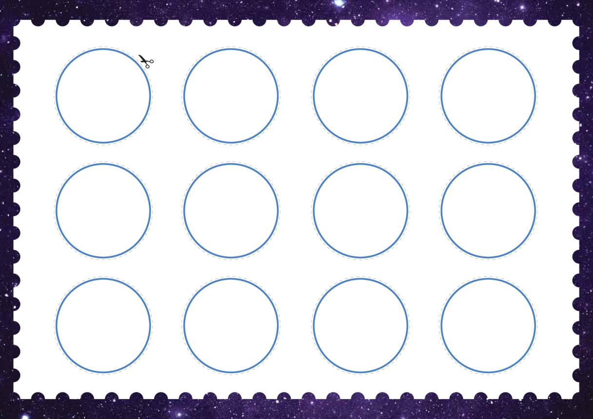 Welsh Language, Primary 1) Time Travel Circular Cut-outs (Blank)