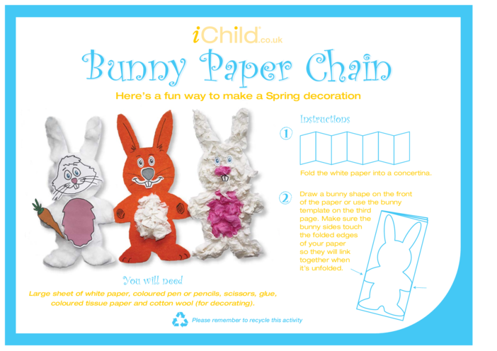 Thumbnail image for the Bunny Paper Chain activity.
