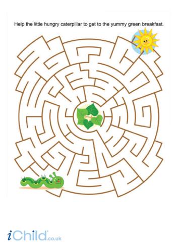 Thumbnail image for the Caterpillar Maze activity.