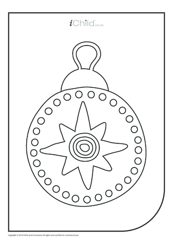 Thumbnail image for the Bauble Colouring in Picture activity.