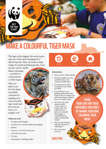 Thumbnail image for the WWF Tiger Mask activity.