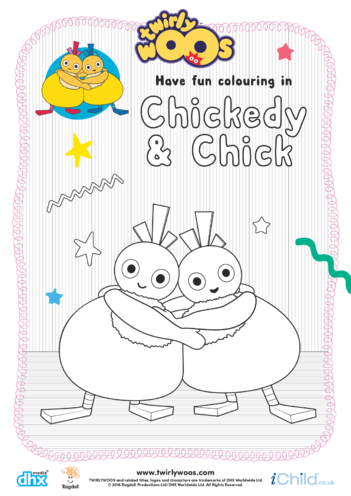 Thumbnail image for the Chickedy & Chick Colouring in Picture activity.