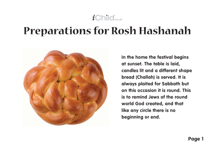 Thumbnail image for the Preparations For Rosh Hashanah activity.