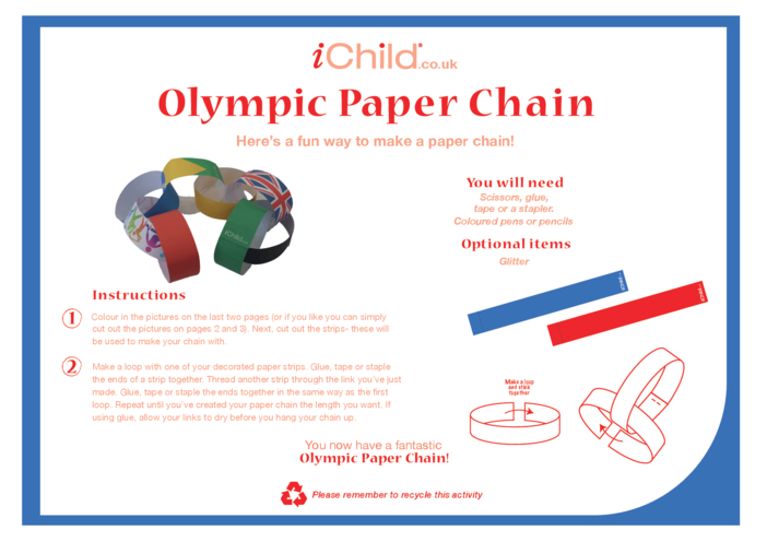 Thumbnail image for the Olympic Paper Chain activity.