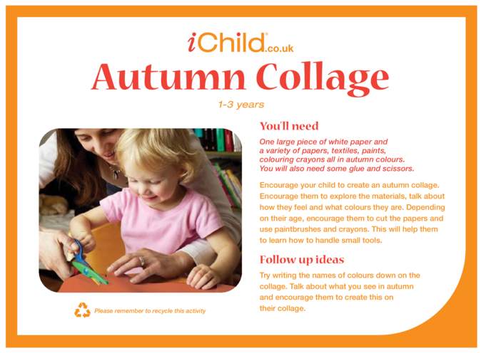 Thumbnail image for the Autumn Collage activity.