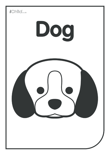 Thumbnail image for the Black & White Poster: Dog Face activity.