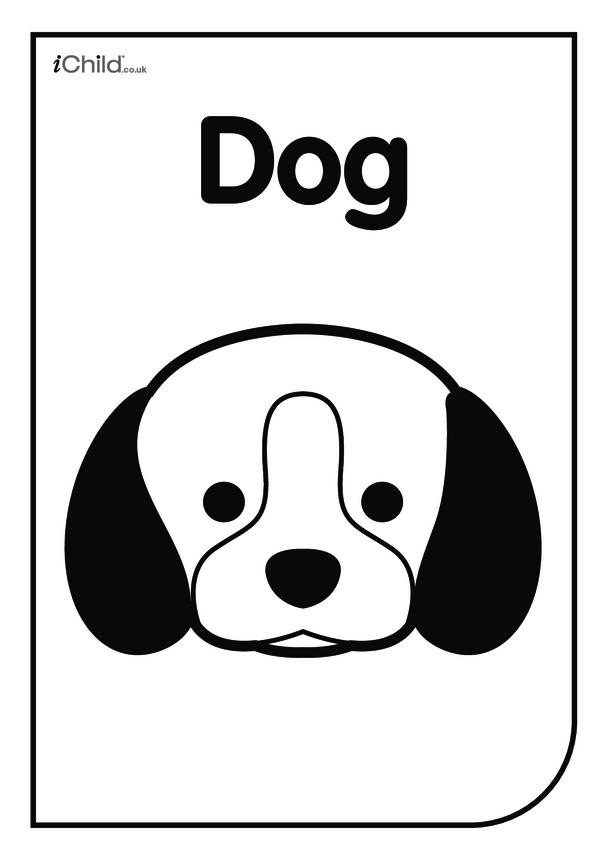 Black & White Poster: Dog Face