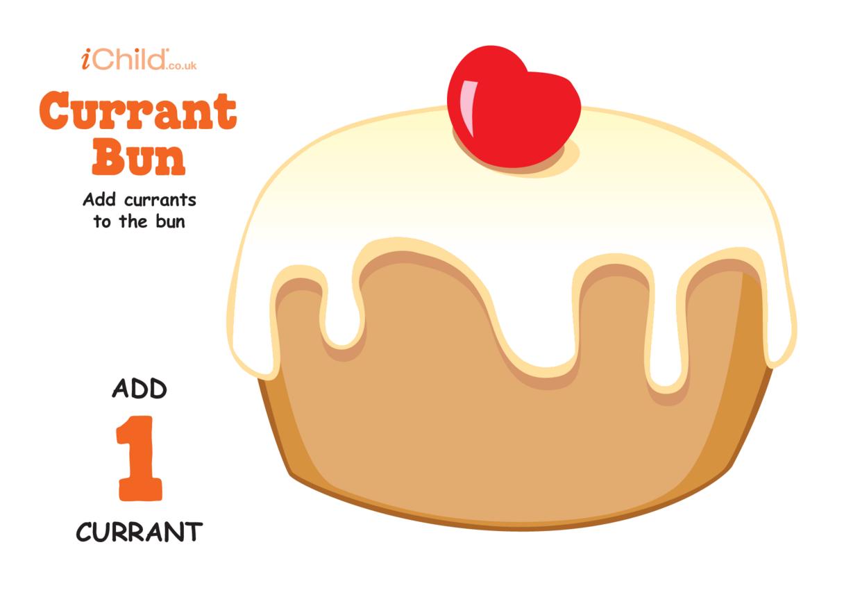 Play Dough Counting Mats: Currant Bun