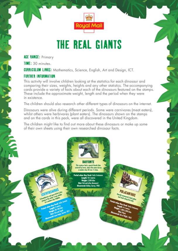 Primary 1) The Real Giants Lesson Plan