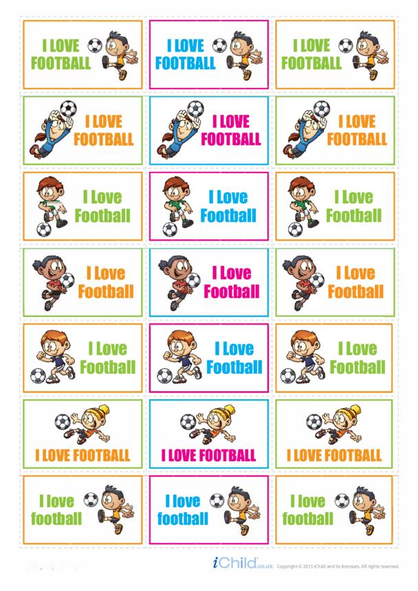 Football Large Sticker Sheet