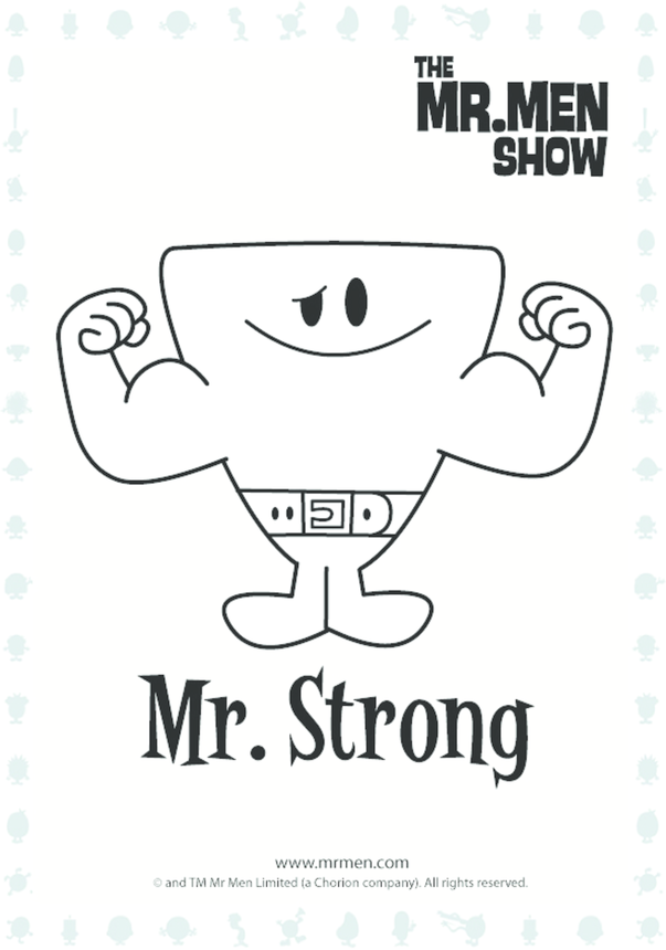 Mr Strong Colouring in picture