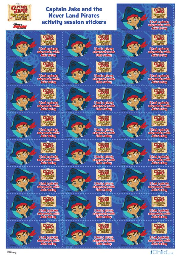 Captain Jake and the Never Land Pirates: Sticker Sheet- Disney Junior