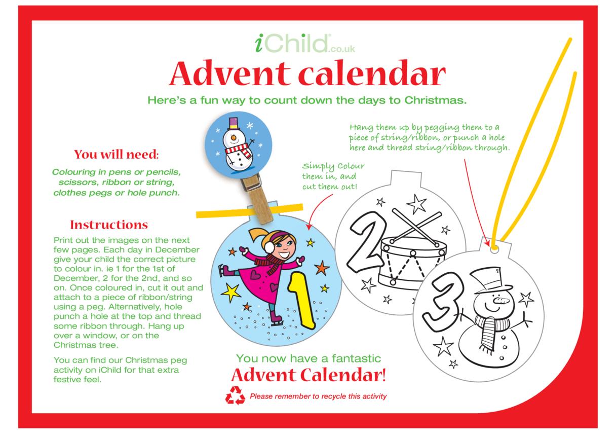 Advent Calendar Decoration Craft