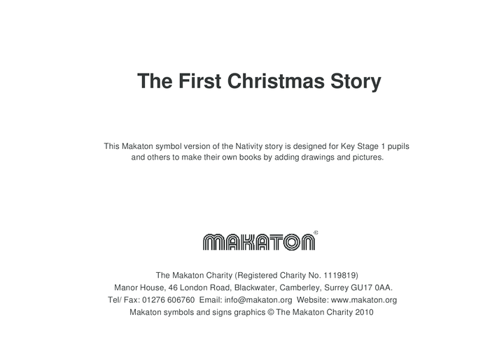 Thumbnail image for the The First Christmas Story Makaton Symbols activity.