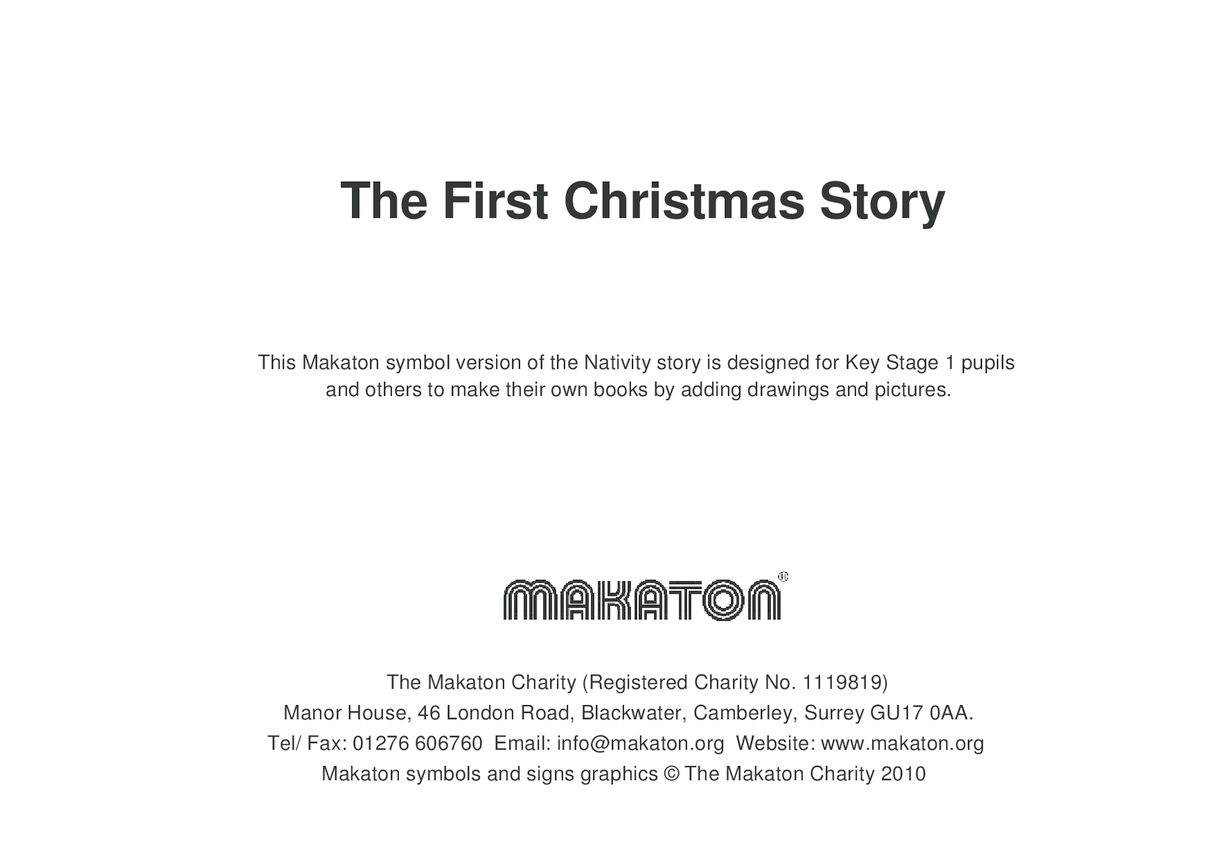 The First Christmas Story Makaton Symbols