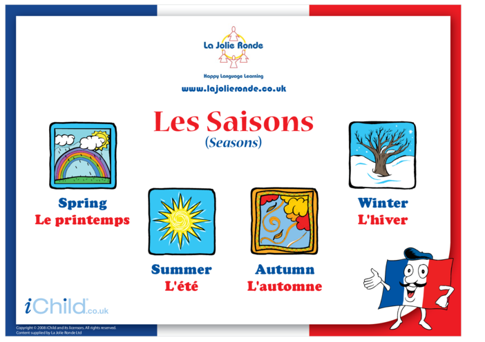 Thumbnail image for the Seasons in French activity.