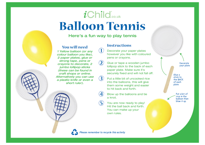 Thumbnail image for the Balloon Tennis activity.
