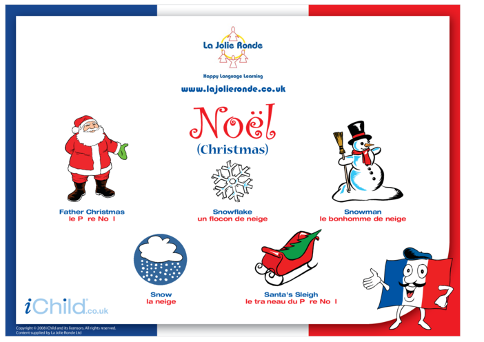 Thumbnail image for the Christmas Words in French activity.