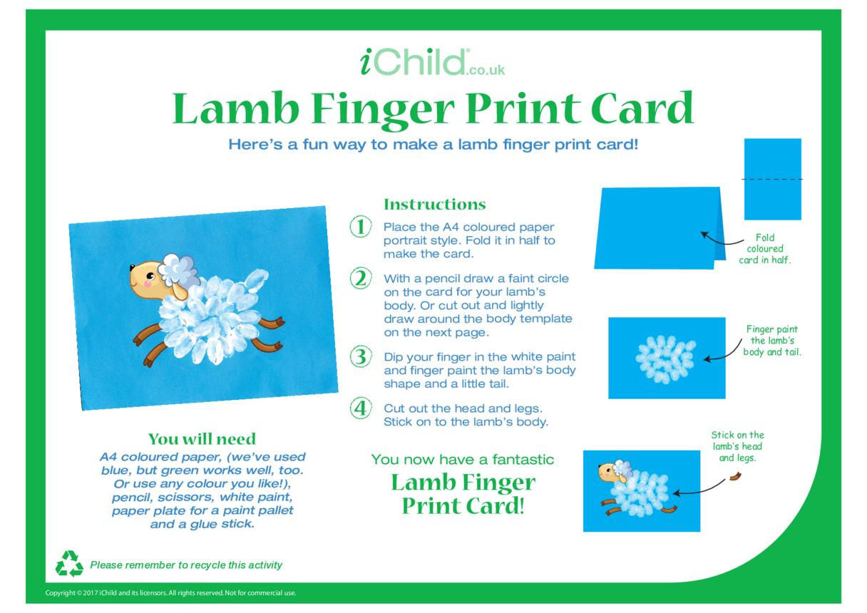 Lamb Finger Print Card