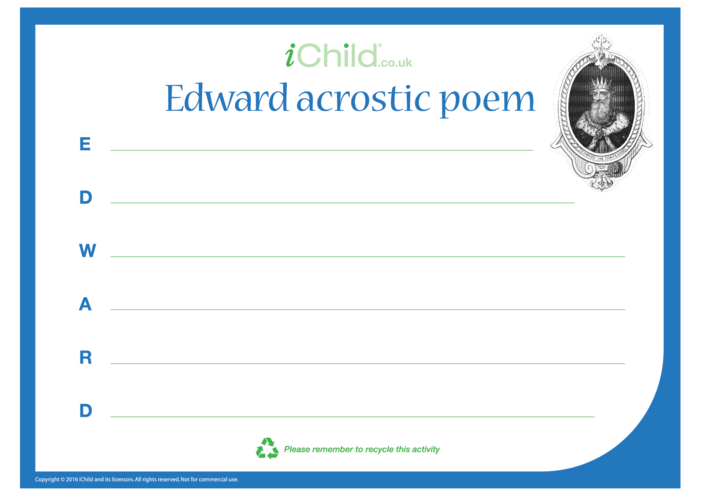 Thumbnail image for the Edward Acrostic Poem activity.
