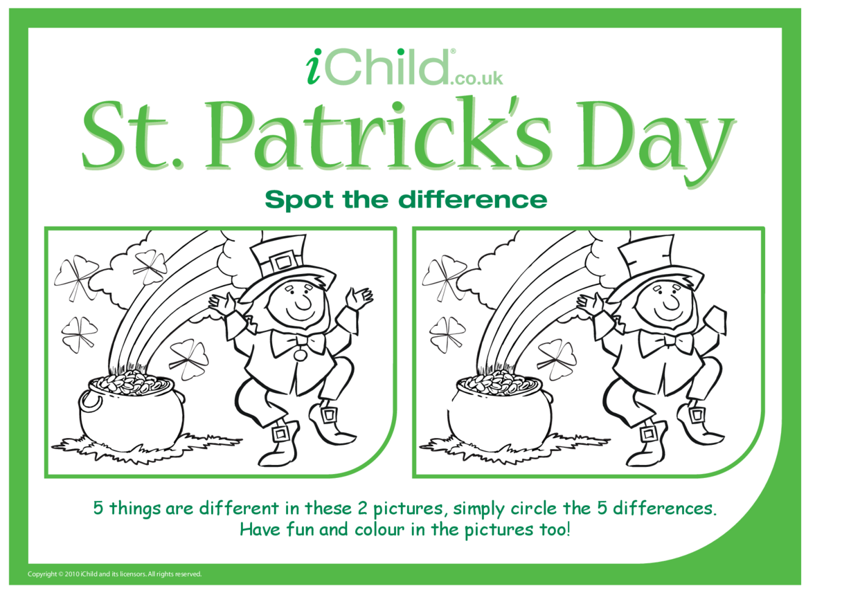 St. Patrick's Day Spot the Difference