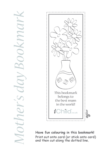 Thumbnail image for the Best Mum Bookmark activity.