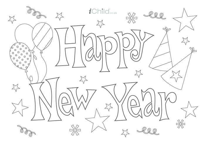 Thumbnail image for the Happy New Year Poster activity.