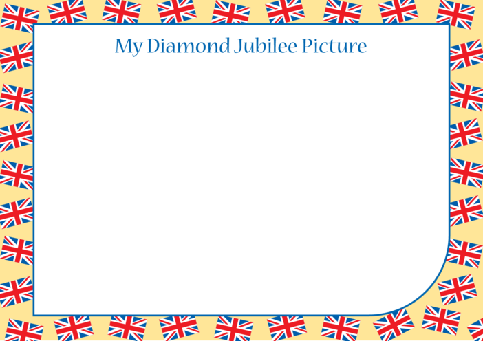 Thumbnail image for the Diamond Jubilee Blank Drawing Template activity.