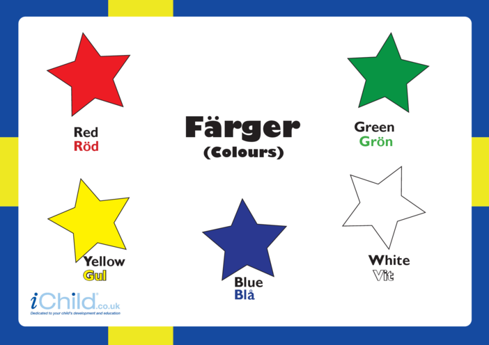Thumbnail image for the Colours in Swedish activity.