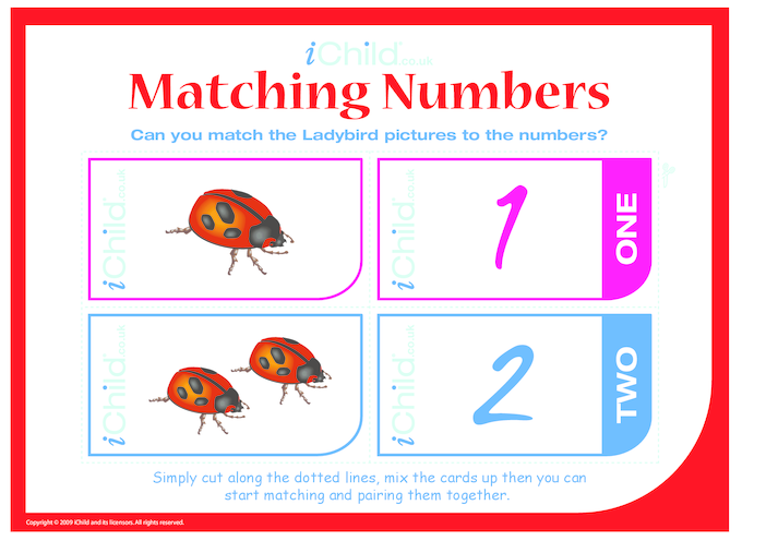 Thumbnail image for the Matching Numbers activity.