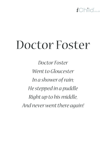 Thumbnail image for the Doctor Foster Lyrics activity.