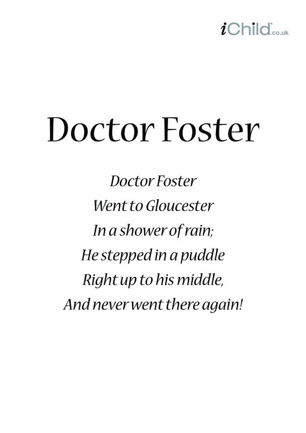 Doctor Foster Lyrics