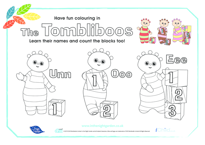 Thumbnail image for the The Tombliboos Colour & Count activity.