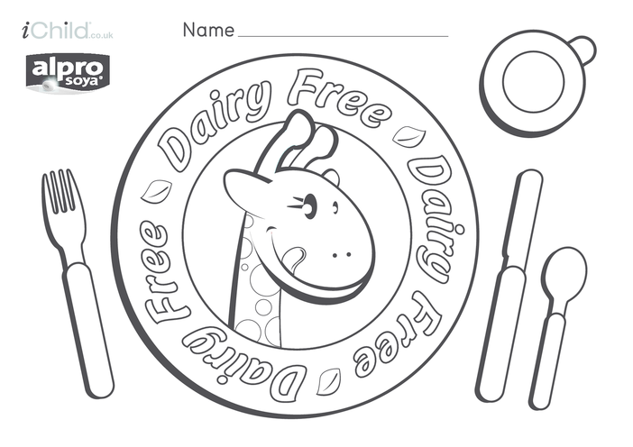Thumbnail image for the Dairy Free Place Mat with Name activity.