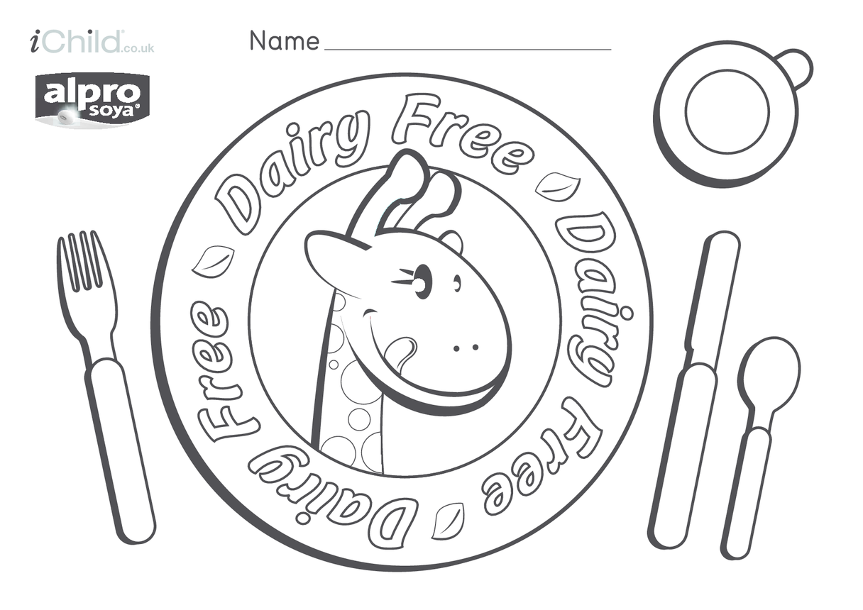Dairy Free Place Mat with Name