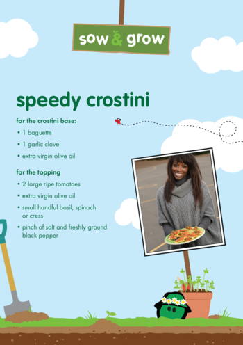 Thumbnail image for the innocent - Speedy Crostini Recipe activity.