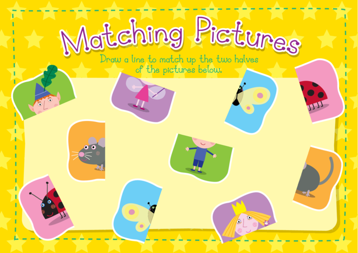 Thumbnail image for the Matching Pictures: Ben & Holly's Little Kingdom activity.
